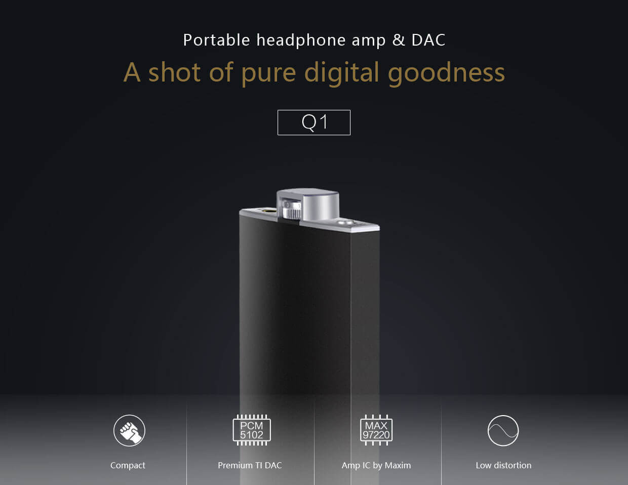 Fiio Q1 Portable headphone amp