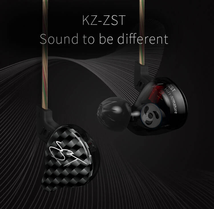 KZ ZST headphones